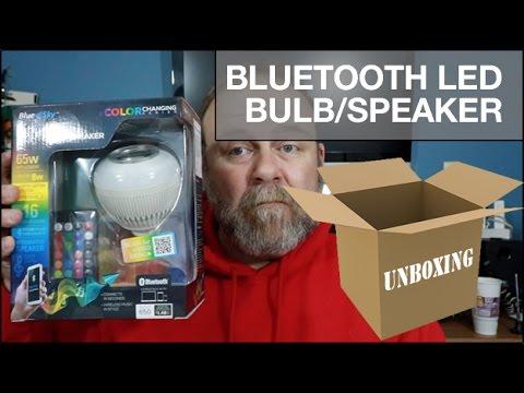 UNBOXING: Blue Sky LED Bluetooth® Color Changing SMART Bulb + Speaker