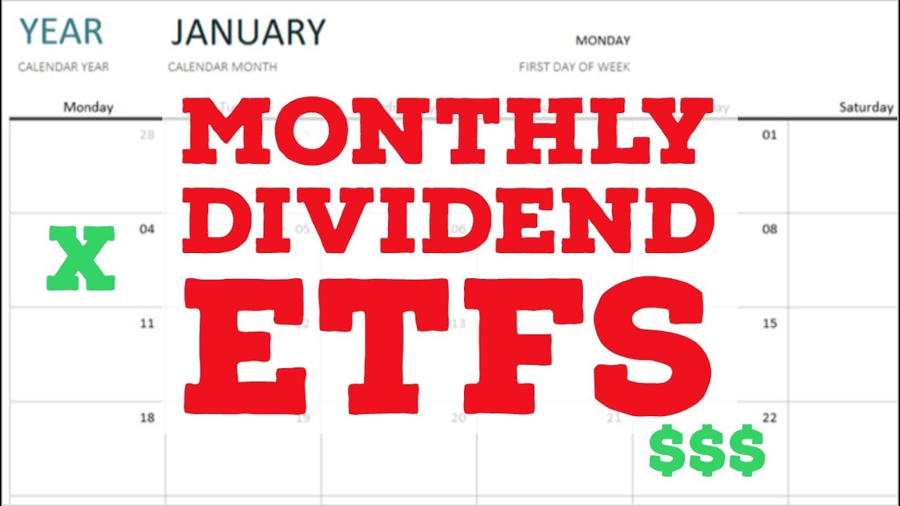 Monthly Dividend Etfs Passive Monthly Income Through Dividend