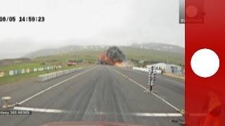 Vidéo spectaculaire : crash d'un avion de tourisme en Islande