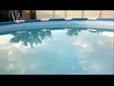Чистим воду в бассейне перекисью водорода 37% Тольятти 2017 - YouTube