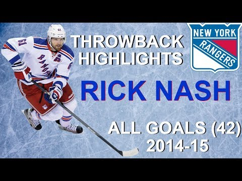 Rick Nash 2014-15 Throwback Season - All 42 Goals + 7 Playoff Goals