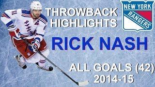 Rick Nash 2014-15 Throwback Season - All 42 Goals + 7 Playoff Goals