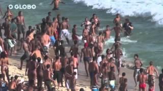 ARRASTÃO NO ARPOADOR / RJ - 2013