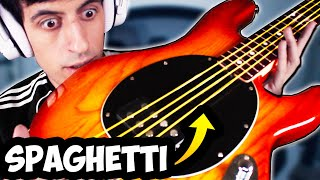I Replaced My Bass Strings with SPAGHETTI