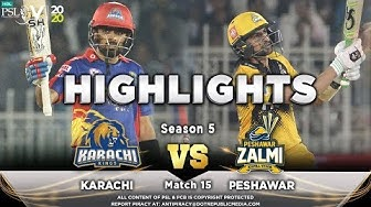 Karachi Kings vs Peshawar Zalmi | Full Match Highlights | Match 15 | 2 March | HBL PSL 2020