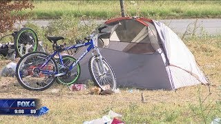 Fort Worth Homelessness Crackdown -- proposal would require permission for camping