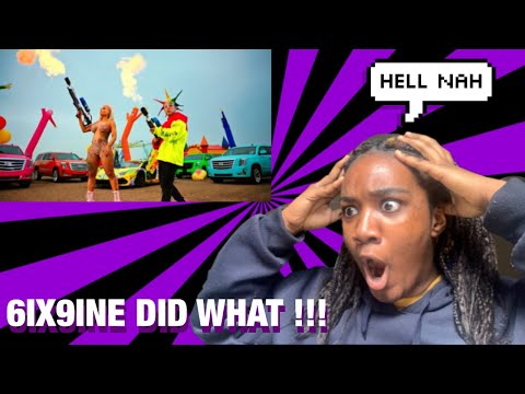 6IX9INE- TUTU(Official Music Video) Reaction!!!