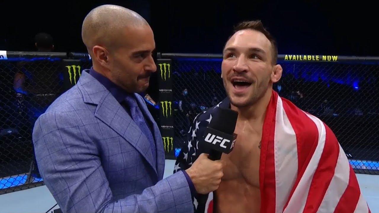 UFC 257: Michael Chandler Octagon Interview