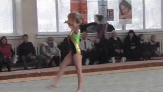 Спортивная гимнастика Вольные Клименко Алина 7 лет