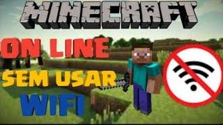 Como jogar minecraft com seu amigo sem WI-FI !!?