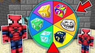 ŞANS BLOKLARI ÇARK ÇEVİRME OYNADIK! - Minecraft