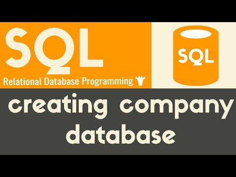 Creating Company Database | SQL | Mike Dane