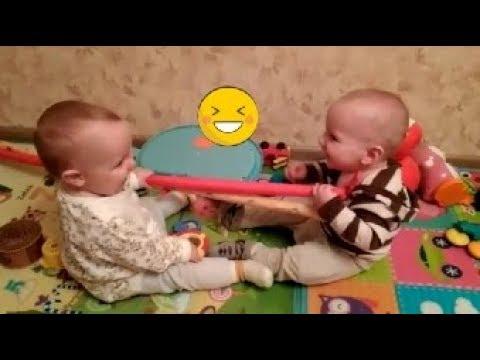 Приколы с двойней   Подборка приколов с детьми   Funny Baby Twins