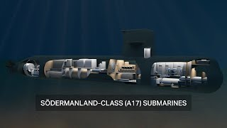 homepage tile video photo for The Södermanland-class submarine – one of the submarines in operation by the Swedish Royal Navy