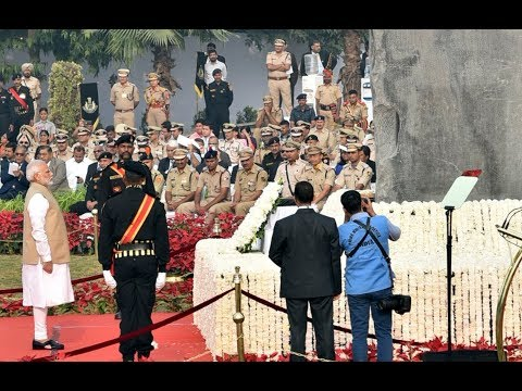 PM Shri Narendra Modi dedicates the National Police Memorial to the Nation