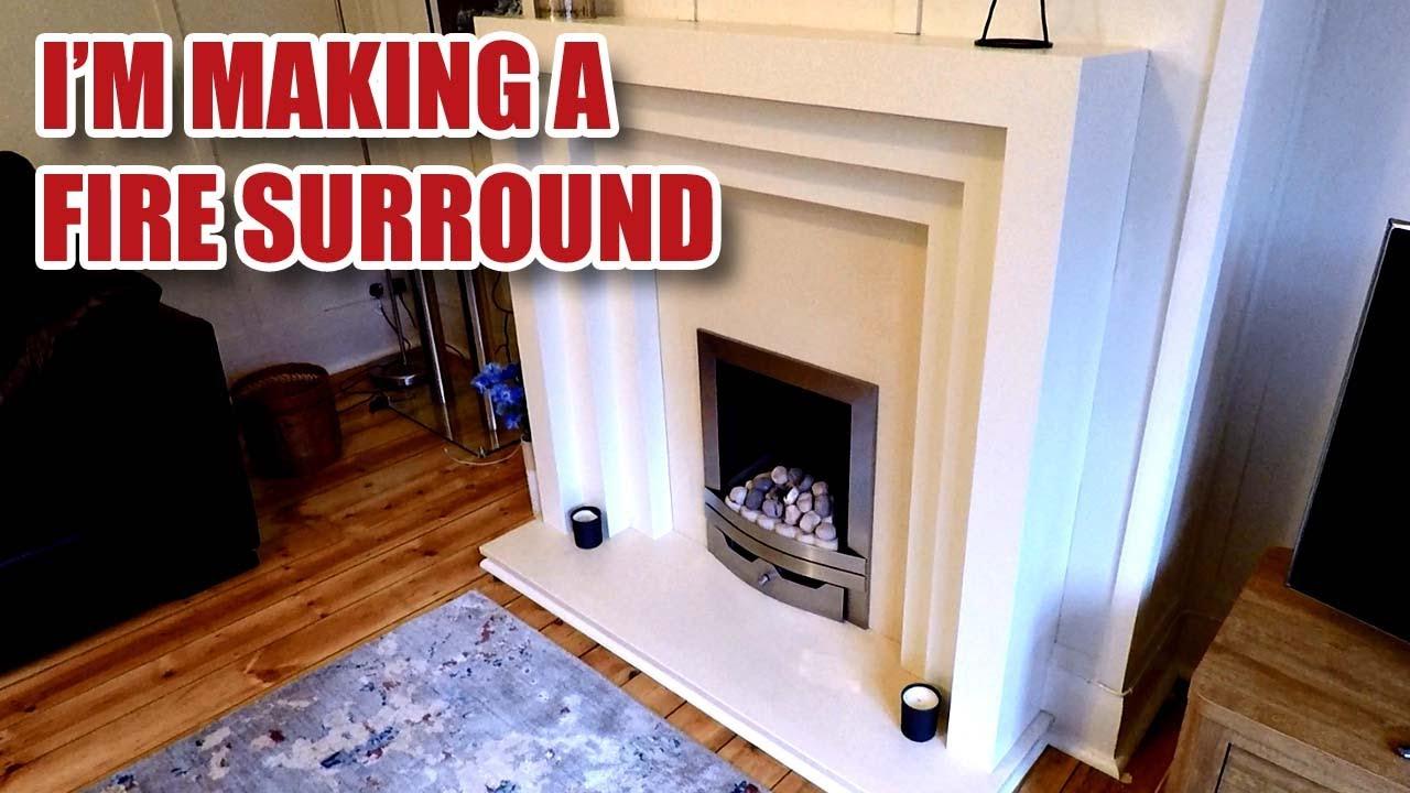 How I Make An Art Deco Fireplace Fire Surround Youtube