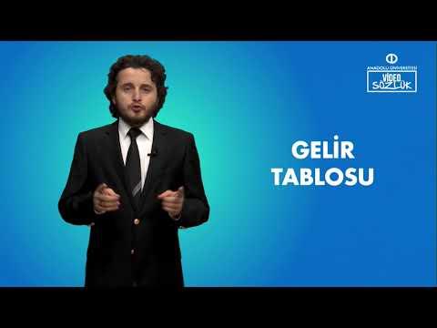 GELİR TABLOSU