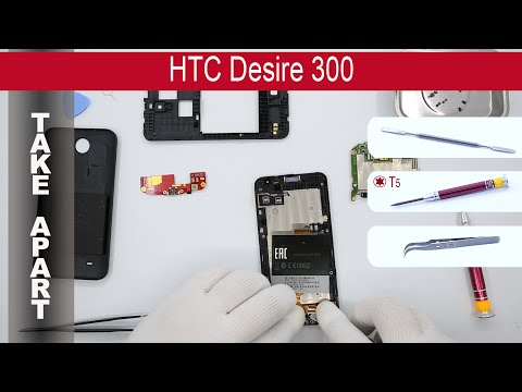 How to disassemble 📱 HTC Desire 300 0P6A100 Take Apart, Tutorial