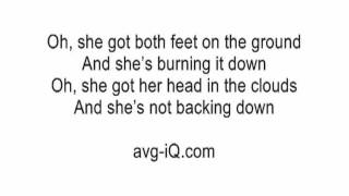 Girl On Fire by Alicia Keys acoustic guitar instrumental cover with lyrics