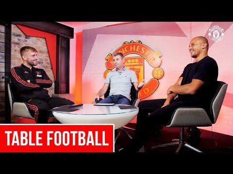 Table Football | Luke Shaw, Wes Brown & Denis Irwin | MUTV Showcase