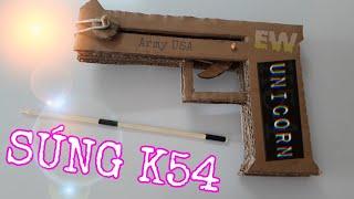 SÚNG K54 BẰNG GIẤY CARTON | GUN K54 WITH CARTON PAPER