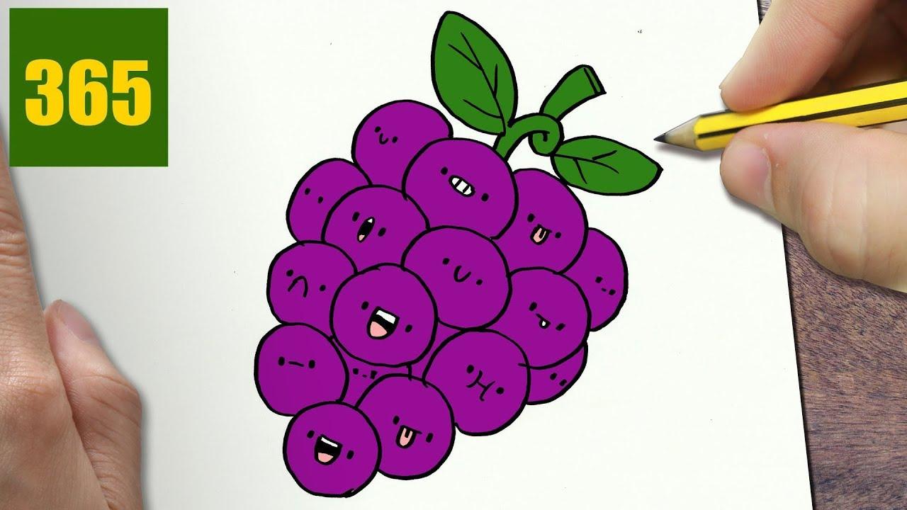 Come Disegnare Uva Kawaii Passo Dopo Passo Disegni Kawaii Facile Youtube