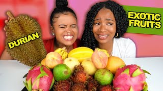 EXOTIC ASIAN FRUITS MUKBANG | First Impression (Rambutan, Durian & More)