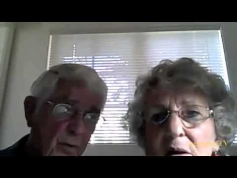 Old granny on webcam