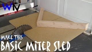 How To Build A Miter Saw Sled