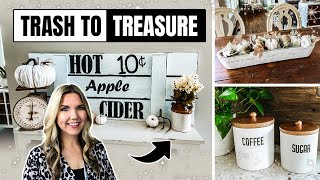 FALL TRASH TO TREASURE 🍁 THRIFT FLIP DIY ITEMS FOR YOUR KITCHEN