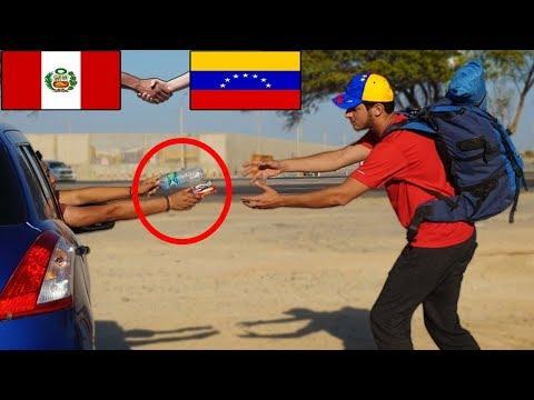 VENEZOLANO llega a Perú CAMINANDO y así reaccionan los peruanos