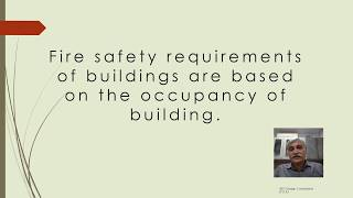 Fire safety requirements as per NBC 2016