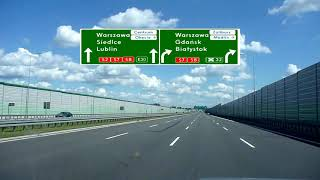 Autostrada / Highway A2 Poznań - Warszawa (Z nowymi znakami)