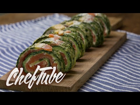 How To Make Salmon Spinach Roll - Recipe In Description