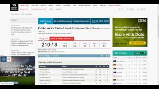 Pakistan Vs. UAE Live Score Match 25 ICC World Cup 2015 : Pakistan Won by 129 Runs Highlig