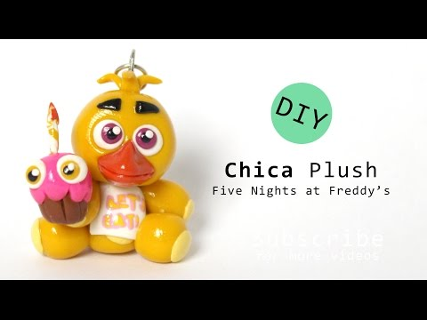 Five Nights at Freddy's Chica Plush Polymer Clay Tutorial