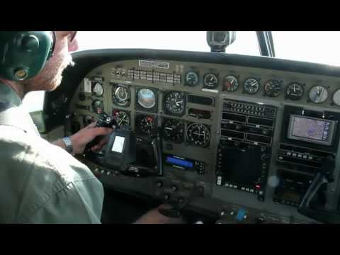 Taking off in a Cessna 208b Grand Caravan from Kasane Airport, Botswana