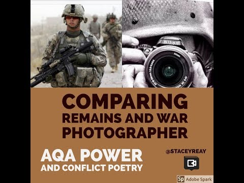 Comparing Remains and War Photographer