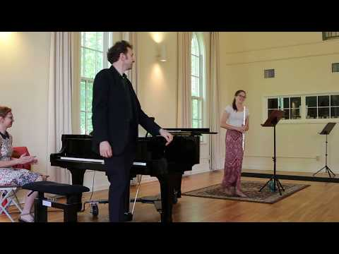 Maia Grace Hendrickson (Flute) & Tom Cleary (Piano): Chorale from Cantata No. 140 by JSBach