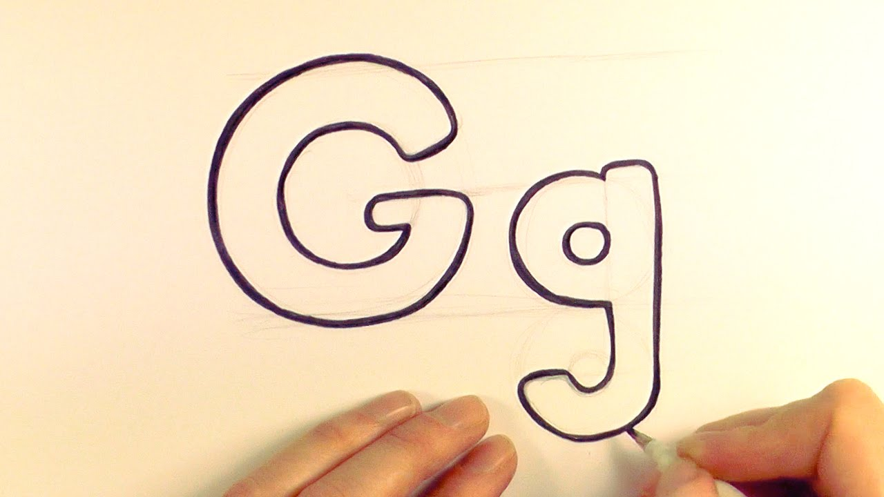 how to draw a cartoon letter g and g