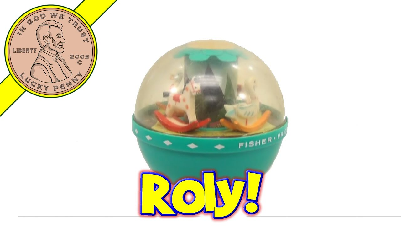Vintage 1967 Fisher Price Roly Poly Chime Ball Toy 165