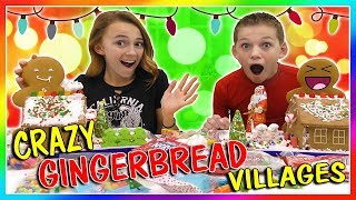 CRAZY GINGERBREAD VILLAGE CHALLENGE | We Are The Davises