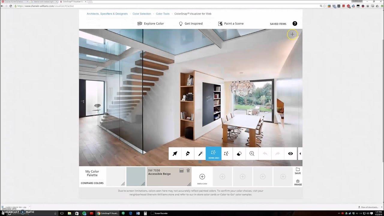 IAD 640 Sherwin Williams Visualizer Tutorial - YouTube