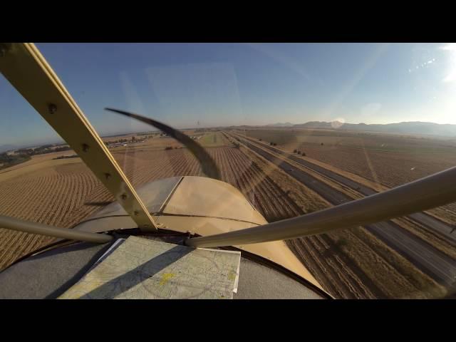 Landing at Daniels Field, Harrisburg, Oregon