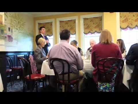 Rye Police Commissioner Michael C. Corcoran Jr., spoke to Rye Rotary members about his first eight weeks on the job. Here is the first of two video clips from Thurday's talk by the former West Orange, N.J., deputy police chief at Ruby's restaurant.