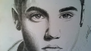 HOW TO DRAW: Justin Bieber (using pencil)