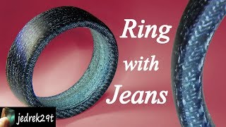 How to make a Ring with Jeans. Denim Ring.