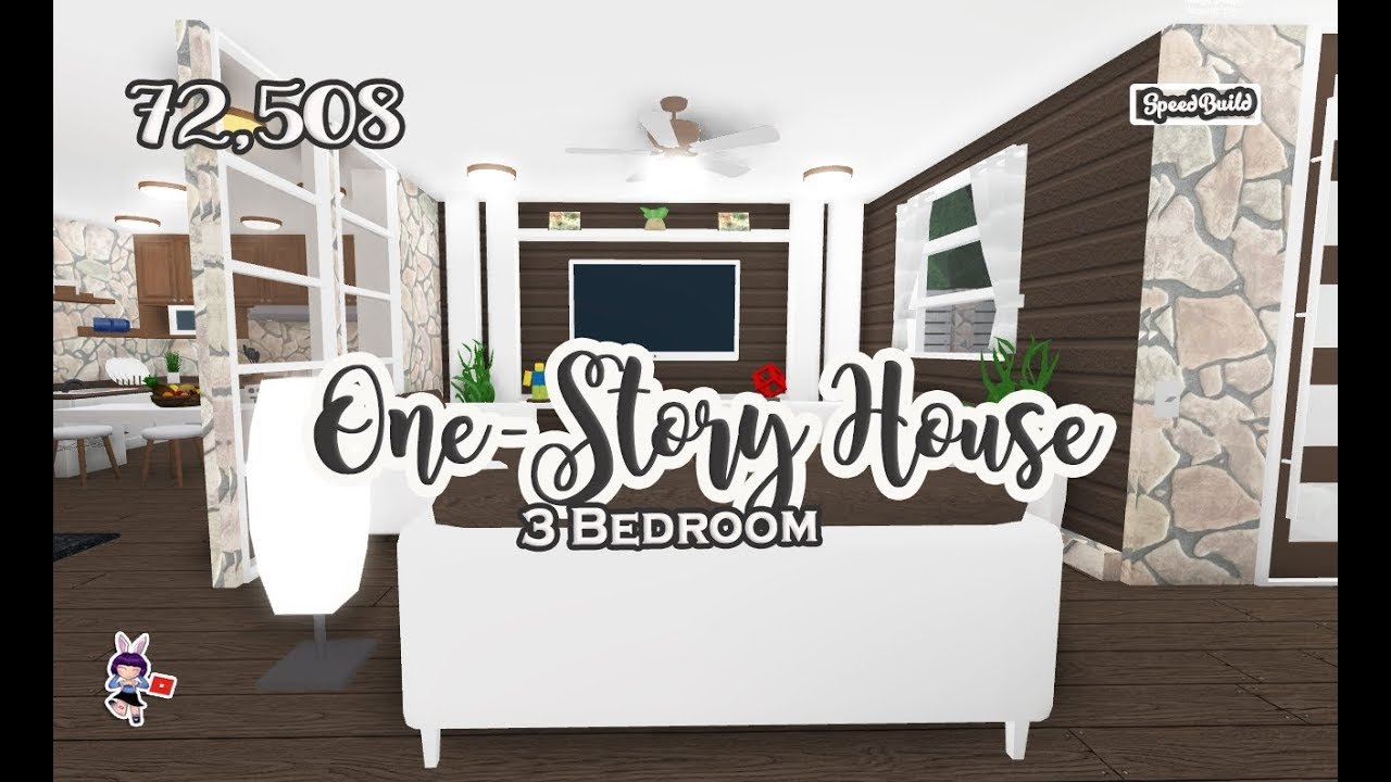 ROBLOX │Bloxburg - SpeedBuild One-Story House | 3Bedroom ...