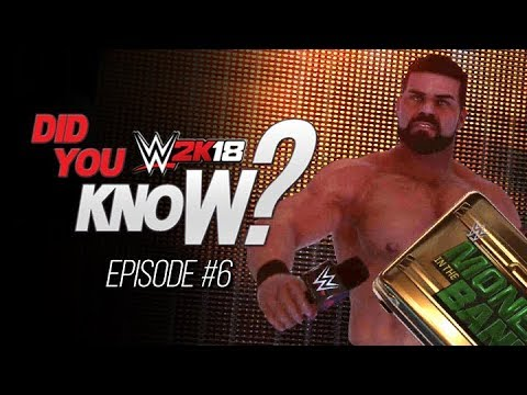 WWE 2K18 Did You Know? Money in the Bank Briefcase Entrance, Road to Glory & More! (Episode 6)