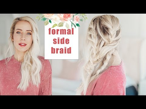 Wedding Hairstyles | Beautiful Formal Side Braid | Twist Me Pretty